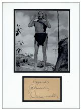 Johnny Weissmuller Autograph Signed - Tarzan